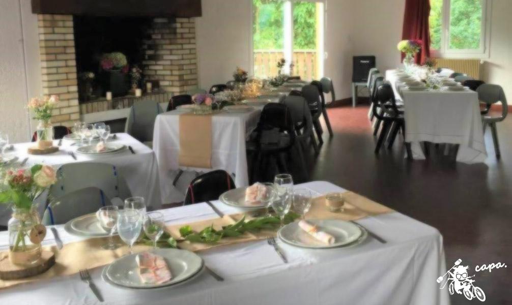 Salle de réception à Clécy en Suisse normande